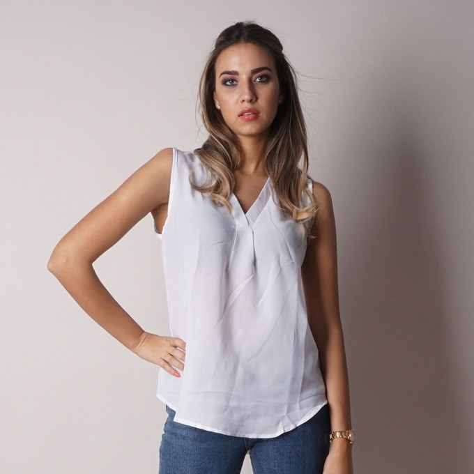 Ladies sleeveless blouse 6369