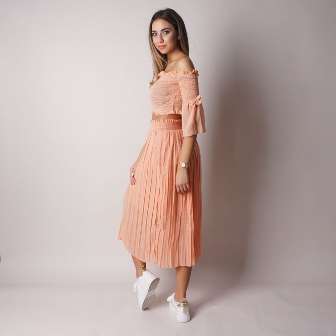 Ladies skirt set with blouse 6471