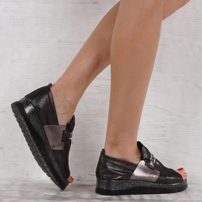 női cipő valódi bőr VISINI 6937