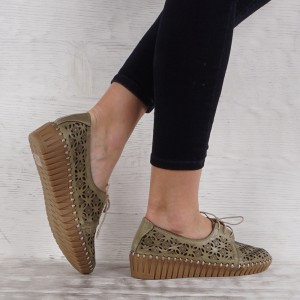 női cipő valódi bőr  VISINI 7191