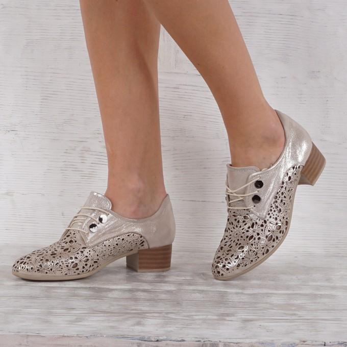 női cipő valódi bőr GS 7090