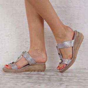Women's slippers genuine leather VISINI 7271