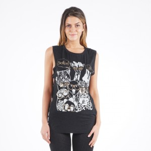 Ladies sleeveless blouse 4190