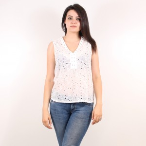 Ladies sleeveless blouse 4215