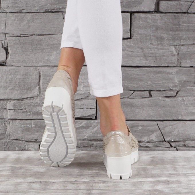 női cipő valódi bőr GS 7147