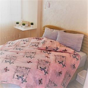 Ágyneműhuzat DOB Butterfly pink  100% pamut   200x220