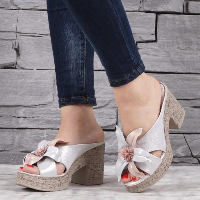 Дамски чехли естествена кожа GS 1868