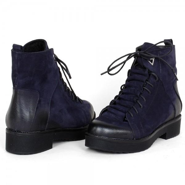Дамски Обувки Бота син велур 1610