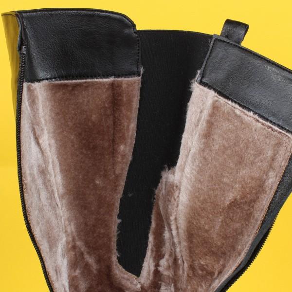 Дамски Обувки ботуш черна ест кожа 1464