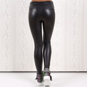 Ladies leather pants 4334