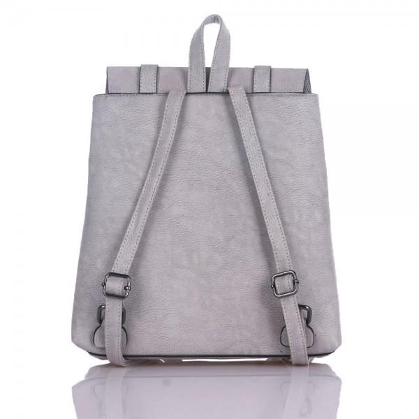 Дамски чанти Раница еко-сиво 2748
