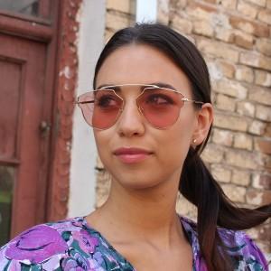 Очила Очила g8294-66 розов.стък.+зл.рамка+кафя 2683