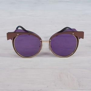 Очила Очила кръгл-оглед.лилави стъкл/зл.рамк 2913