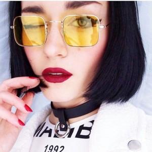 Очила Очила жълти стъкл+злат рамк 2718