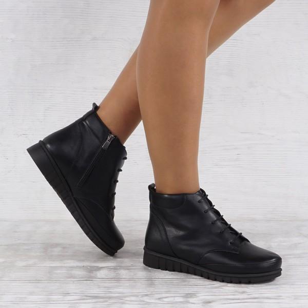 Дамски Обувки бота черно 2562