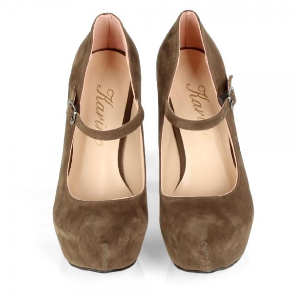 Дамски Обувки каки/обувки 479