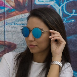 Очила сини стъкла 611