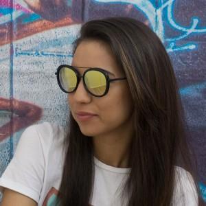 Очила черни с зелени стъкла 619